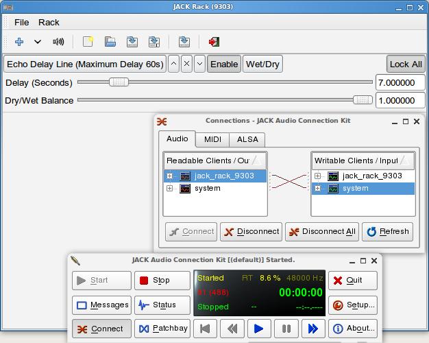 Using jack to delay audio