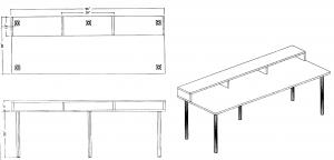 Custom desk design