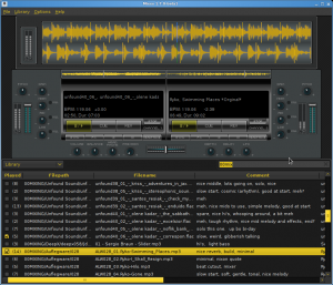 My custom Mixxx theme, which fits nicely on my 1280x800 screen