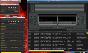 Mixxx on the right, a couple jack-racks on the left, and a little midi notifier at the top left