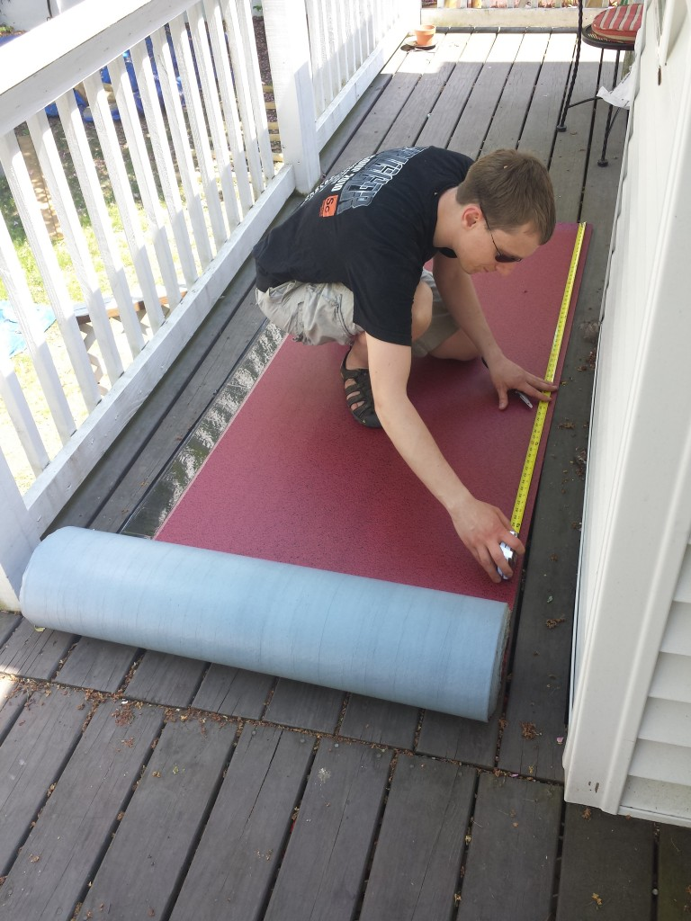 The underlayment is designed to be walked upon