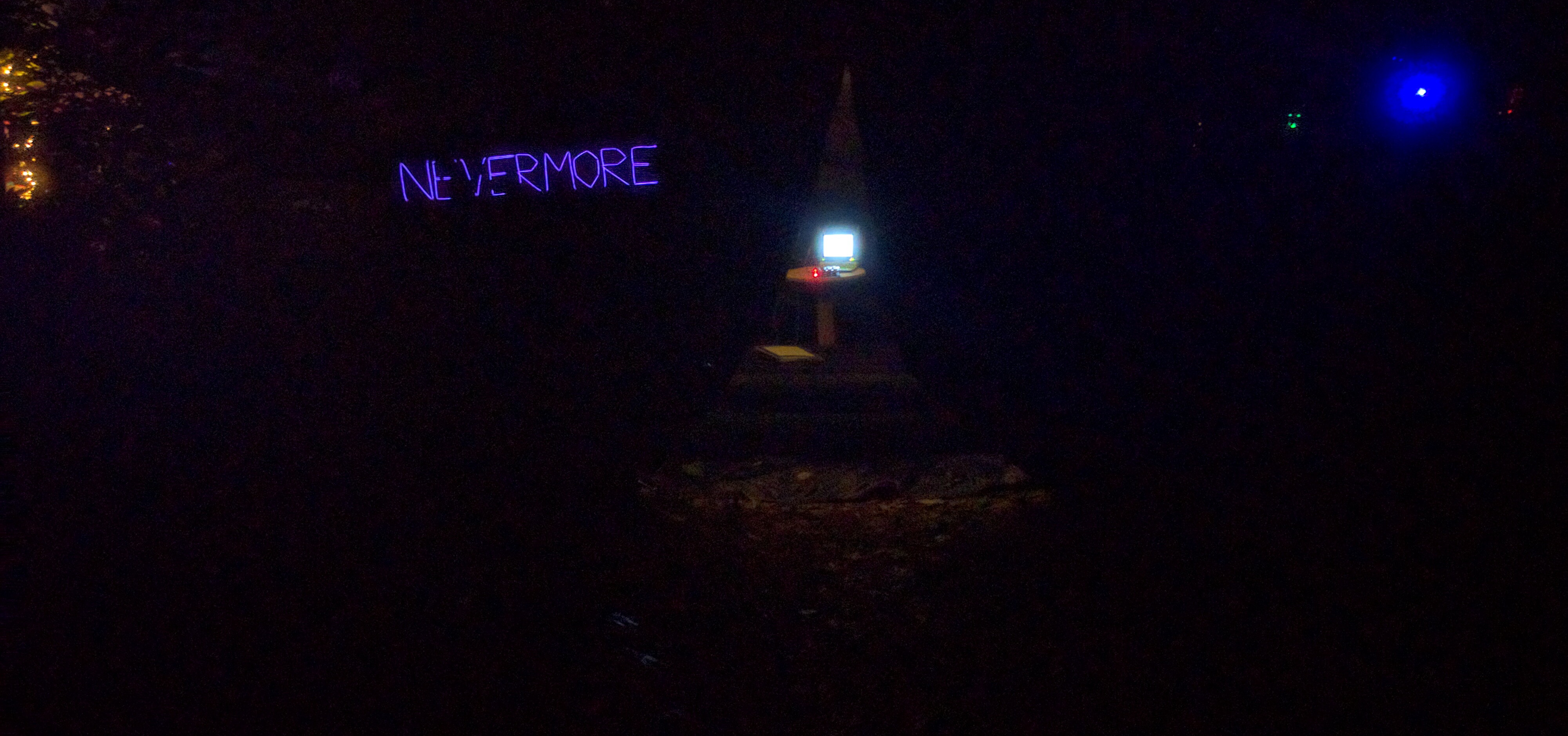 Image of Nevermore at night